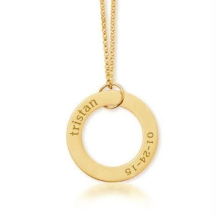 Gold Circle Pendant