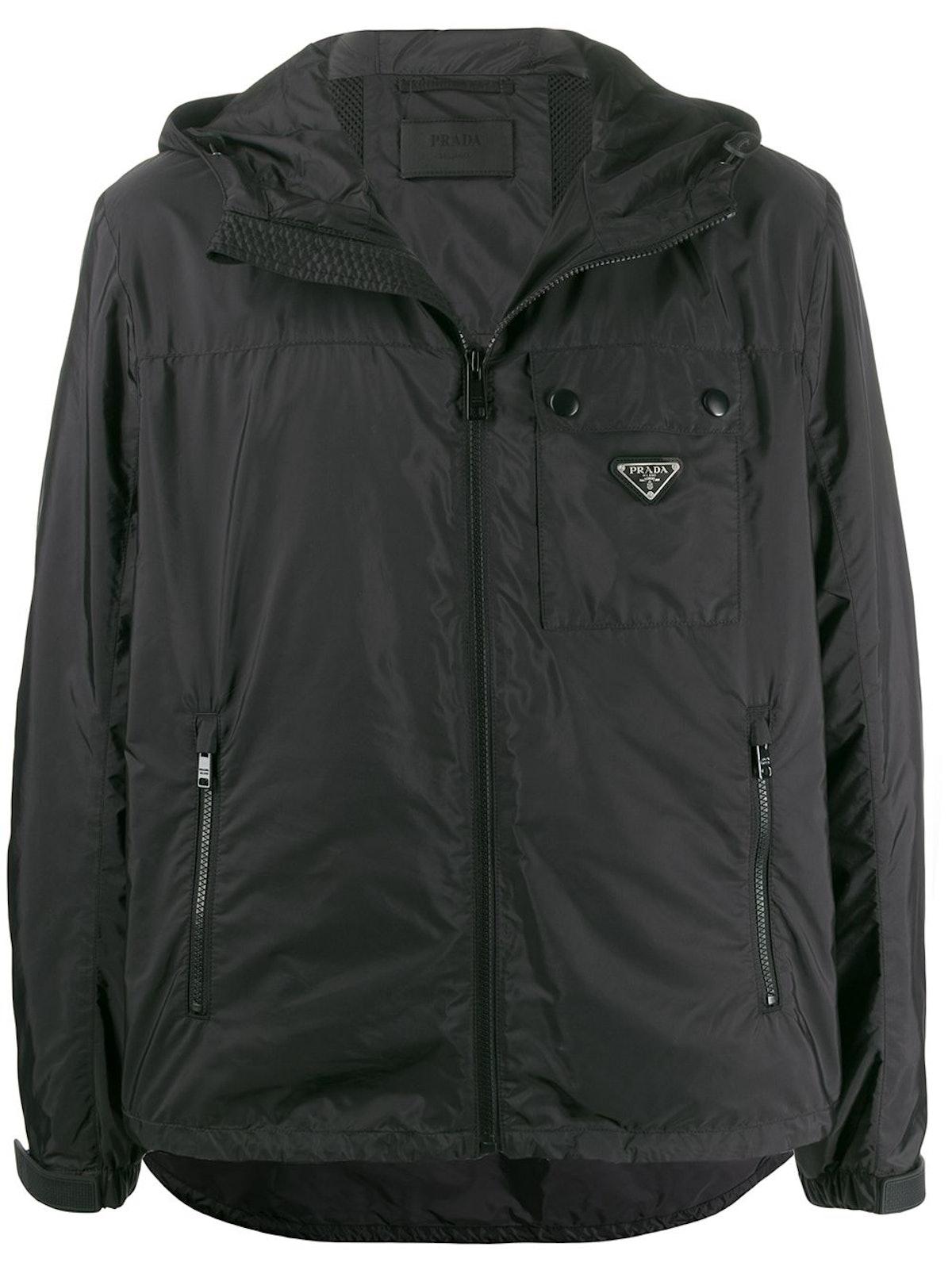 Logo Plaque Hooded Jacket