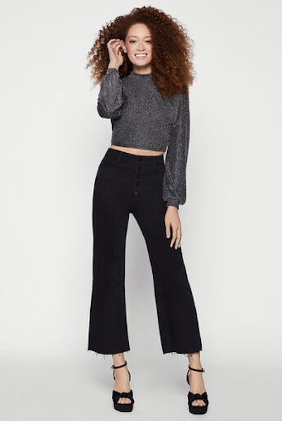 BCBG High Rise Crop Jean