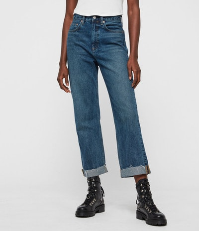 All Saints Cropped Boyfriend Jeans
