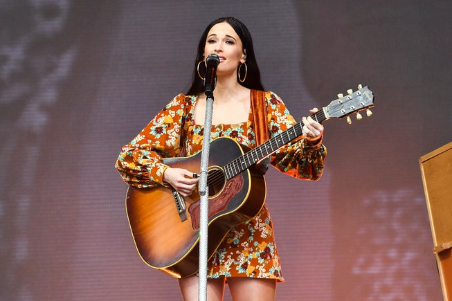 Kacey Musgraves performs during Austin City Limits Festival at Zilker Park on October 13, 2019 in Au...