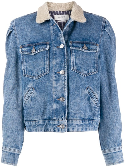 Nolinea Shearling-Collar Denim Jacket