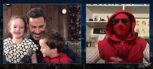 Tom Holland surprised Jimmy Kimmel's son for his birthday by dressing as Spider-Man.