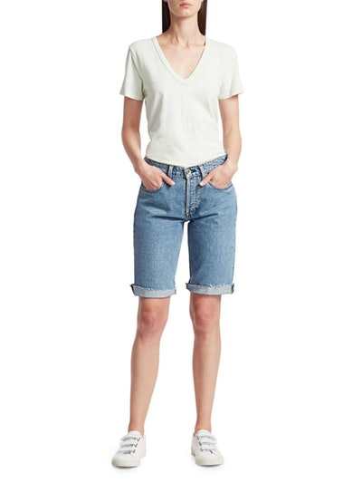 Rag & Bone Rosa Mid-Rise Denim Walking Shorts