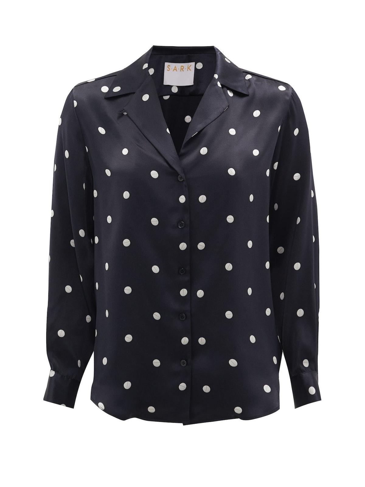 Valium Polka-Dot Silk Shirt