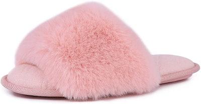 LongBay Fuzzy Faux Fur Spa Slide