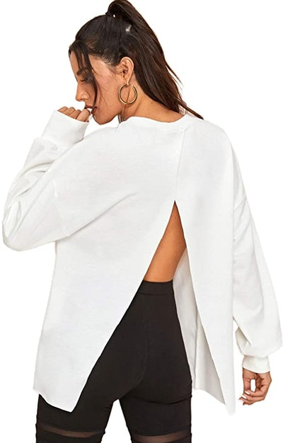 Floerns Split Back Sweatshirt