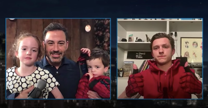Jimmy Kimmel and Tom Holland