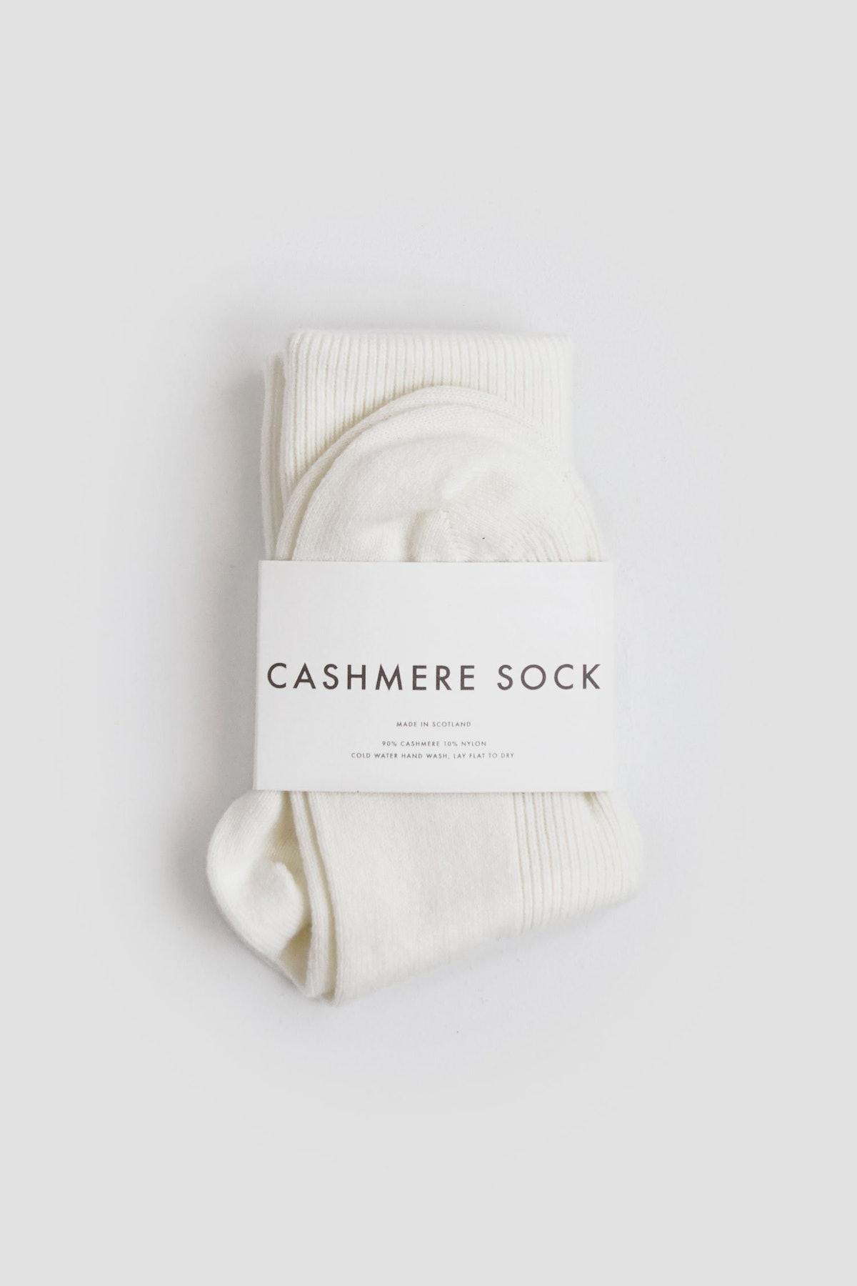 Cashmere Sock Ecru