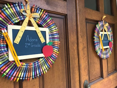 Personalized Crayon Wreath