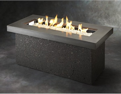The Outdoor Greatroom Company Key Largo Linear Gas Fire Pit Table
