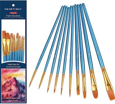 Heartybay 10-Piece Nylon Brush Set