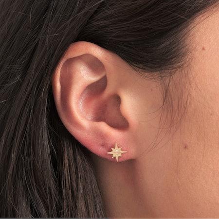 14K Gold Starburst Earrings