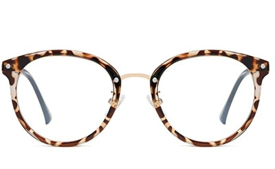 SOJOS Retro Round Blue Light Blocking Glasses