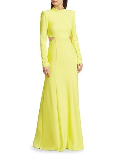 Gabriela High-Neck Cutout Dress