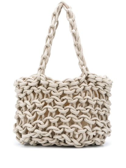 Woven Rope Tote Bag