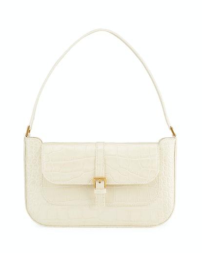 Miranda Croco Embossed Shoulder Bag