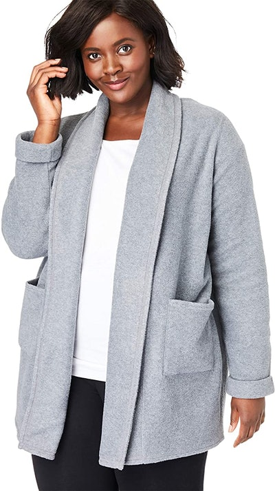 Woman Within Plus Size Microfleece Cardigan