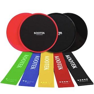 Kootek Resistance Bands and Core Sliders Fitness Kit