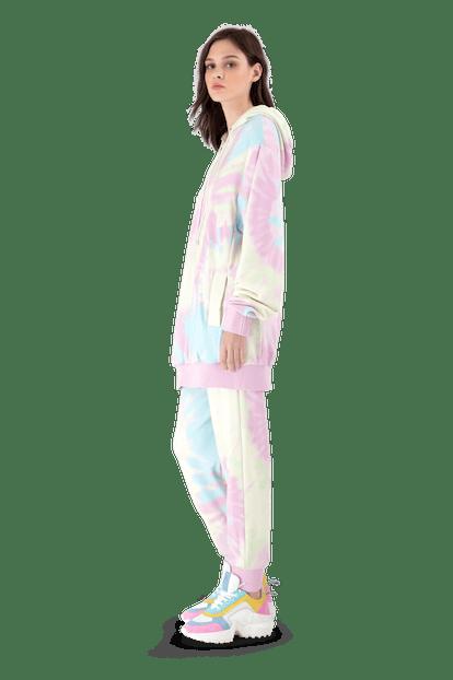Pink Tie-Dye Jersey Tracksuit Trousers
