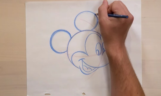 Virtual illustration lessons from Disney show kids how to draw their favorite characters, including Mickey Mouse.