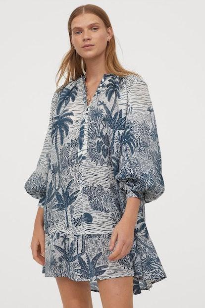 Wide-cut Cotton-blend Tunic