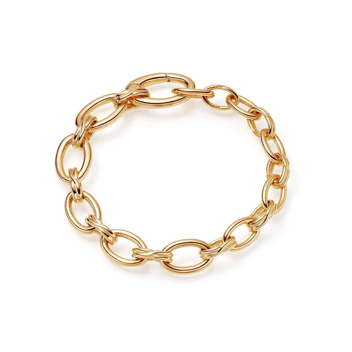 Graduated Oval Chain Bracelet