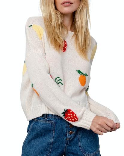 Perci Fruit Intarsia Wool-Blend Sweater