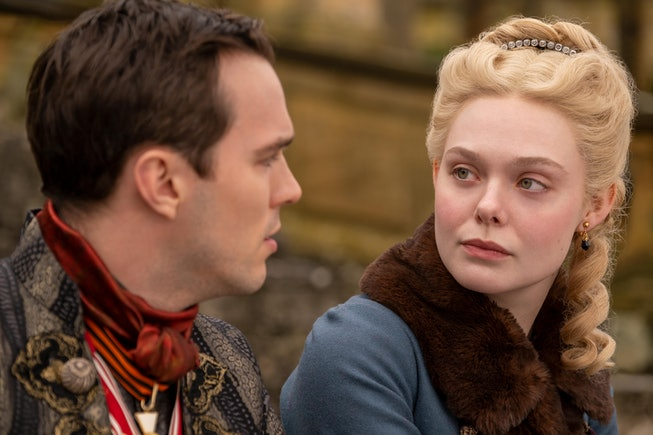 Elle Fanning and Nicholas Hoult star in 'The Great'