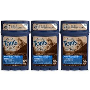 Tom's of Maine Men's Long Lasting Wide Stick Deodorant (3-pack)
