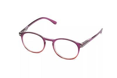 ICU Eyewear Screen Vision Blue Light Filtering Youth Round Purple Glasses