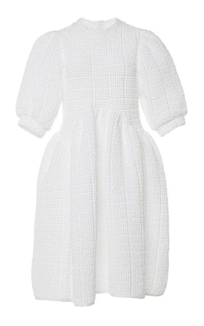Uma Paneled Cotton-Terry Midi Dress