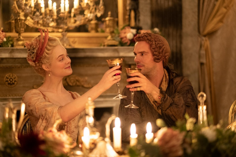 Elle Fanning and Nicholas Hoult in Hulu's 'The Great'