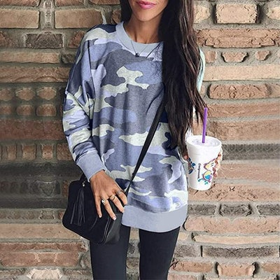 ECOWISH Printed Pullover Tunic