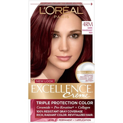 L'Oreal Paris Excellence Créme Permanent Hair Color, 4RM Dark Mahogany Red