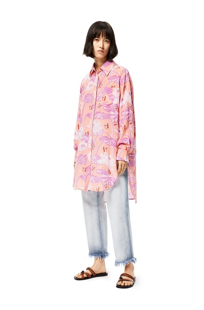 Oversize Shirt In Waterlily Silk
