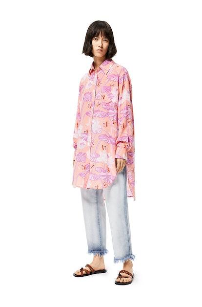 Oversize Shirt In Waterlily Silk