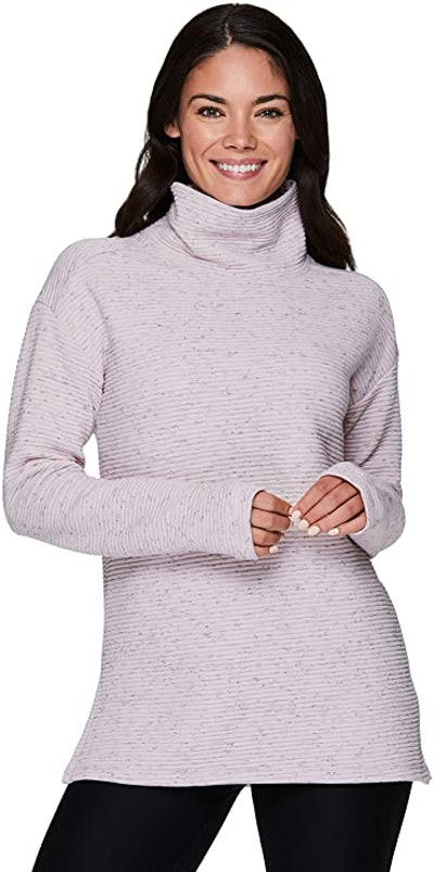RBX Active Quilted Cowl Neck Pullover Sweatshirt