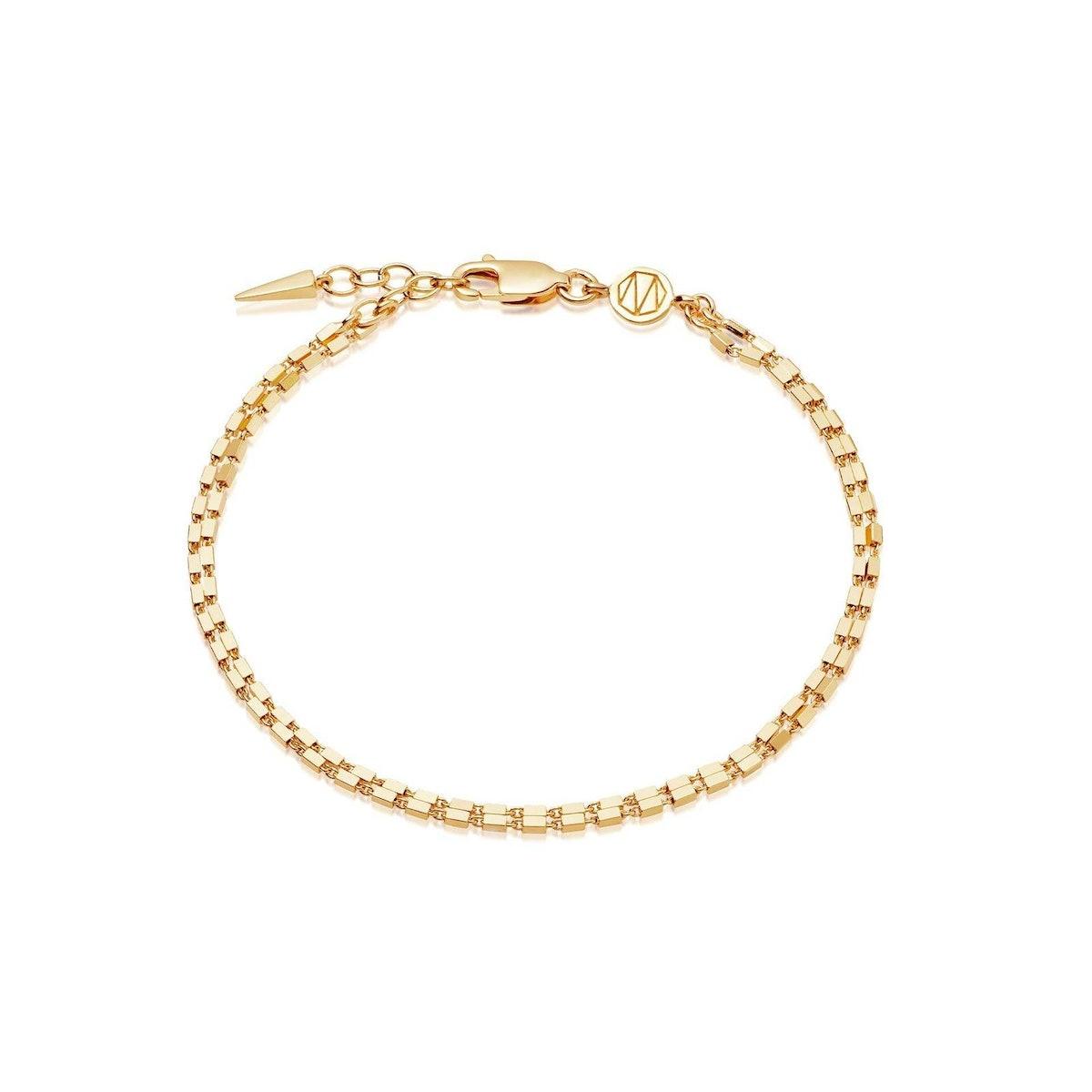 Box Link Double Chain Bracelet