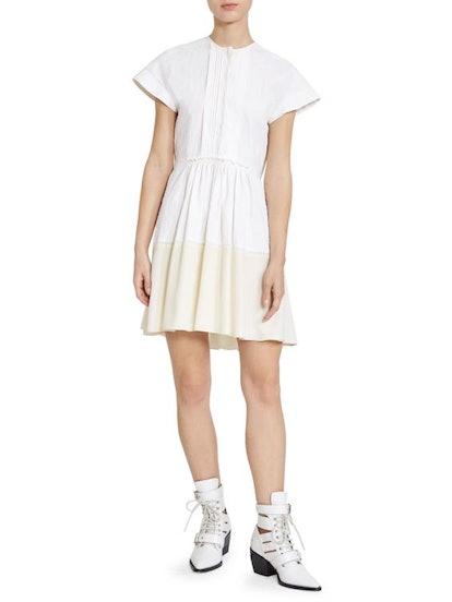 Two-Tone Linen Shirtdress