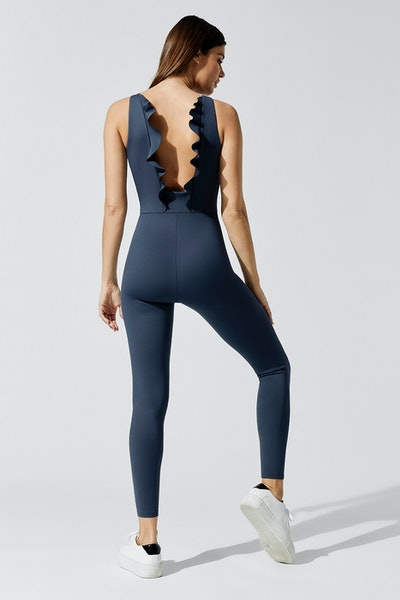 Carbon 38 Stretch Ruffled Back Jumpsuit