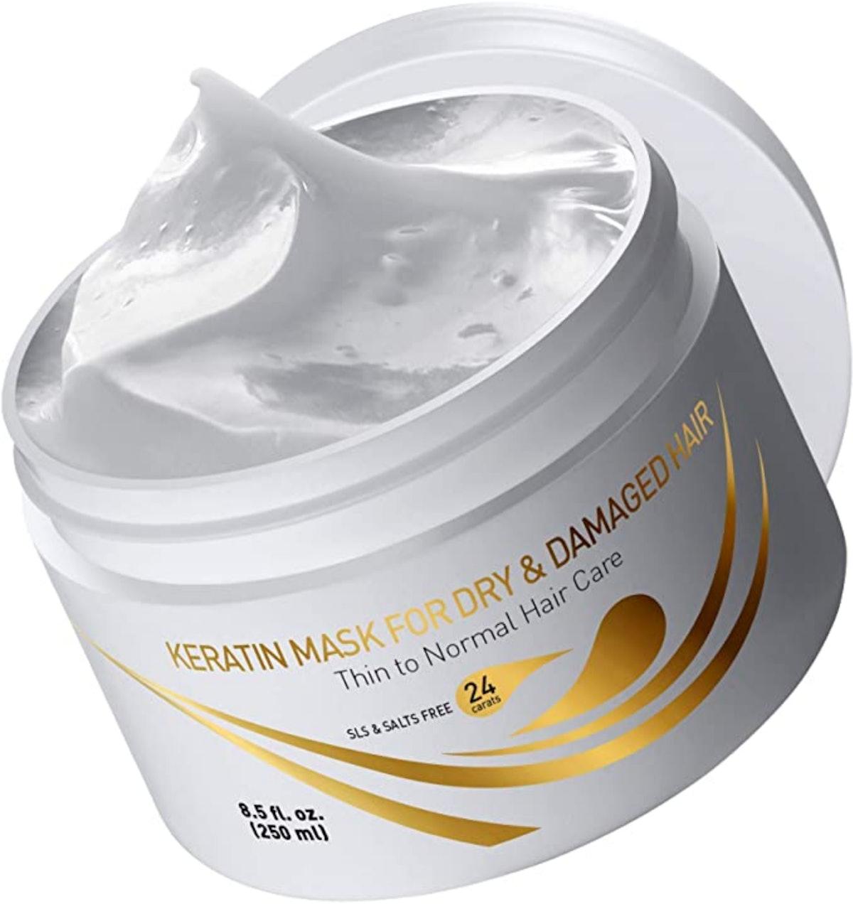 Vitamins Hair Cosmetic Keratin Mask For Dry & Damaged Hair