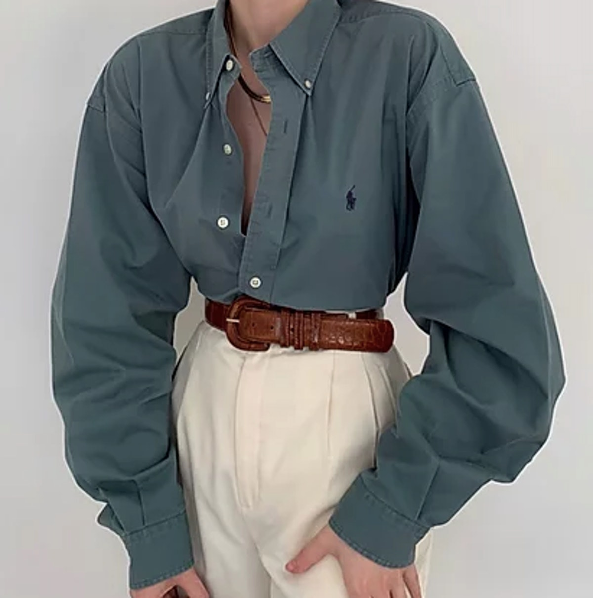 Vintage Ralph Lauren Ocean Button Up