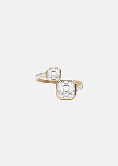Bespoke 2-Stone Asscher Engagement Ring