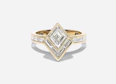 Bespoke Modern Deco Engagement Ring