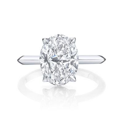 Bespoke 2.5 Carat Oval Diamond in 18k White Gold