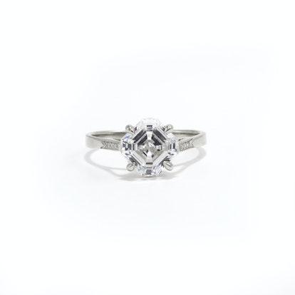 Diana Asscher Cut Engagement Ring