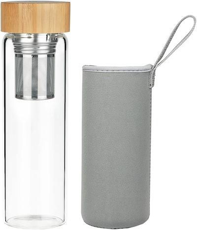 ORIGIN Best Fruit and Tea Infuser Glass Water Bottle
