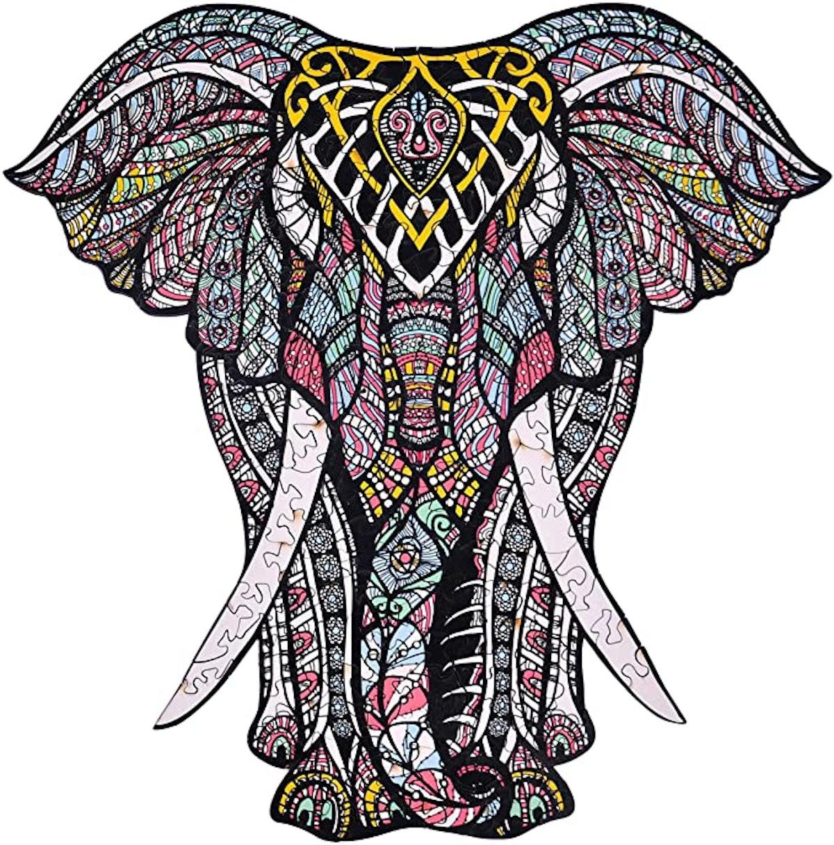 Hartmaze Decorative Elephant Decorative Elephant Wooden Jigsaw Puzzle