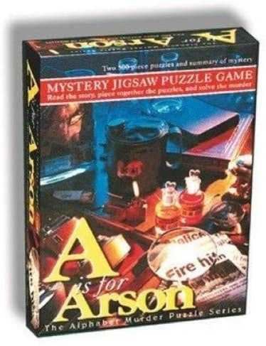 TDC Games Mystery Jigsaw Puzzle Game - A is for Arson